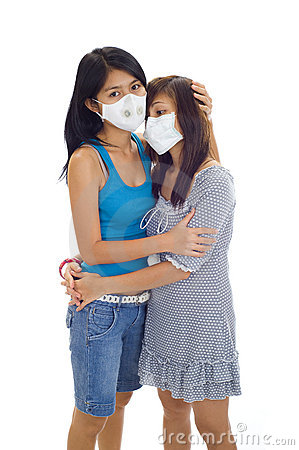 Women with protective masks