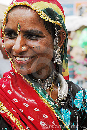 Women of Rajasthan In India. Editorial Photo