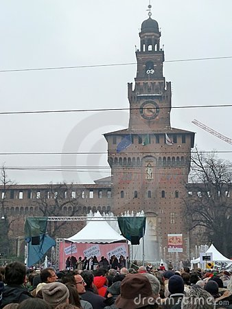 Women rallies to protest against Berlusconi Editorial Stock Photo