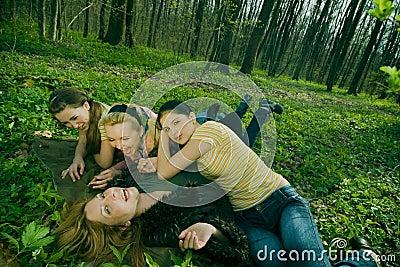 Women resting