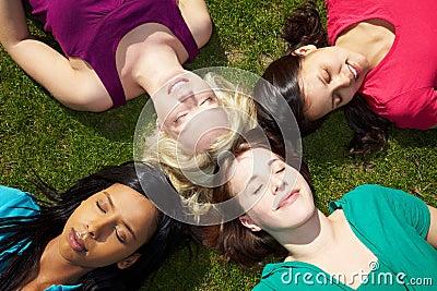 Women resting in a park