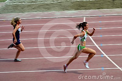 Women running in competition Editorial Photo