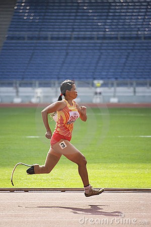 Women s 100 Meters for Disabled Persons Editorial Photography