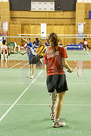 Women s Badminton for Disabled Persons Editorial Photography