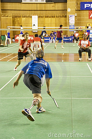 Women s Badminton for Disabled Persons (Blurred) Editorial Image