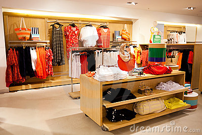 Royalty Free Stock Photos: Women s clothing store