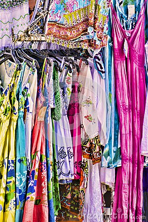Women's colorful summer dresses