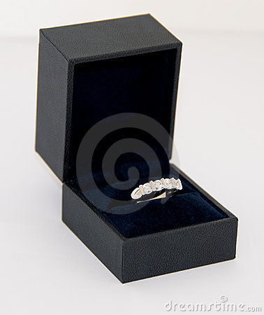 Women s diamond ring (Eternity ring) in a box