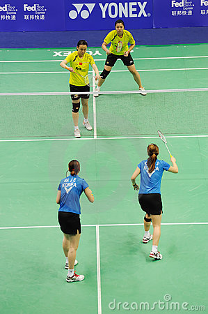Women s Doubles,Badminton asia championships 2011 Editorial Photography