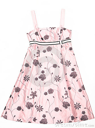 Women s dress with patterns.