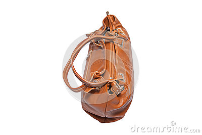 Women s handbag on white background