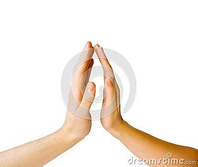 Women s hands sensual touch