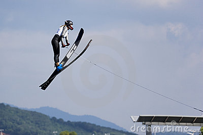 Women s Jump Action - June Fladborg Editorial Stock Image