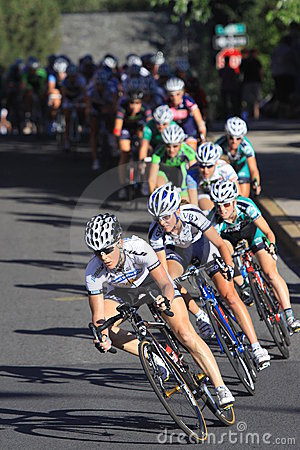 Women s Pro Cycling Crit Chase Group Editorial Image