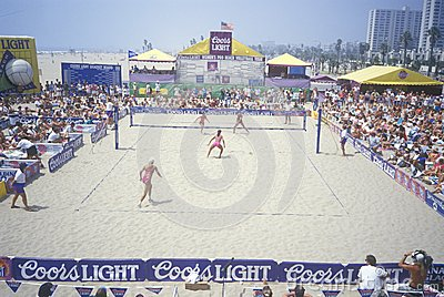 Women s professional sand volleyball tournament Editorial Stock Photo