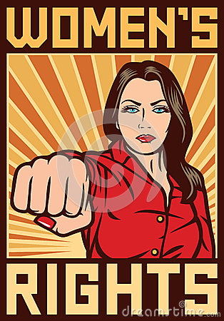 Free Women`s Rights Poster Stock Photos - 41623273