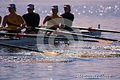 Women s Rowing Team Splashes