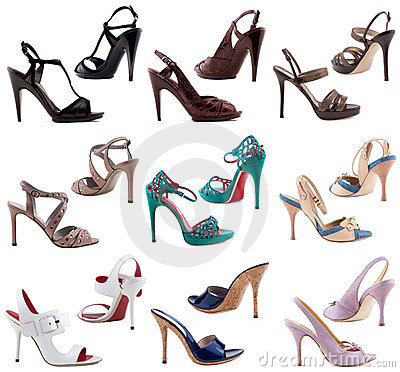 Free Women S Shoes On A White Background. Royalty Free Stock Photography - 19408147