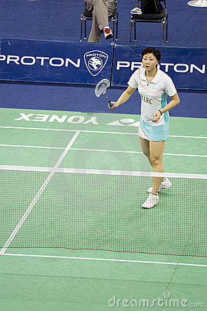 Women s Singles Badminton - Mi Zhou Editorial Stock Image