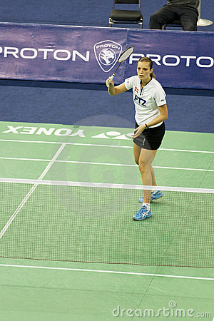 Women s Singles Badminton - Tine Rasmussen Editorial Stock Photo