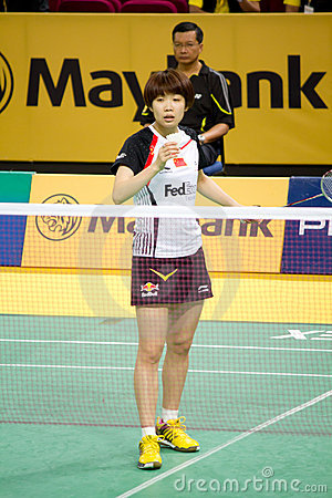 Women s Singles Badminton - Wang Xin Editorial Photography