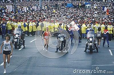 Women s starting line at NY City Marathon Editorial Stock Photo