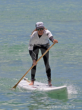 Women s SUP Champion Editorial Stock Image
