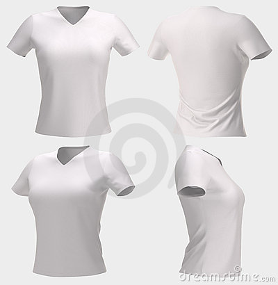 Women s T-shirt isolated with clipping path.