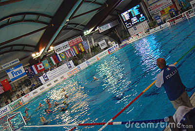Women s water polo, Italy-Hungary Editorial Image