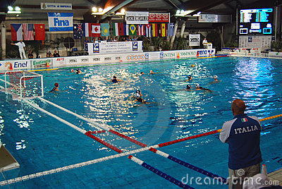 Women's water polo, Italy-Hungary Editorial Photography