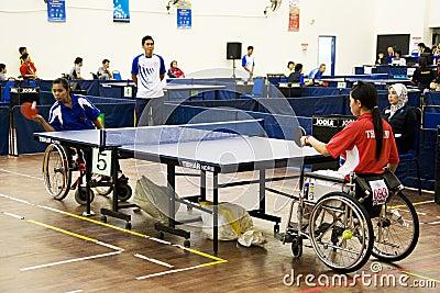 Women s Wheelchair Table Tennis Action