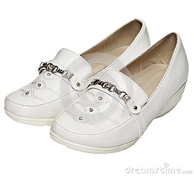 Women s white leather shoes