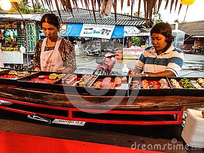 Women selling sushi Editorial Stock Photo
