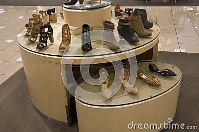 Beautiful women shoes in a luxury department store near Seattle
