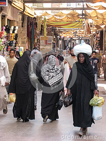 Women shopping at the Souk. Egypt Editorial Image