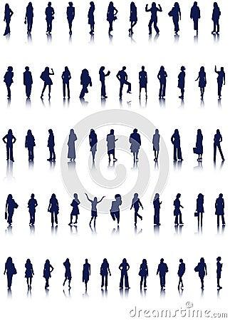Free Women Silhouettes Royalty Free Stock Photos - 14447148