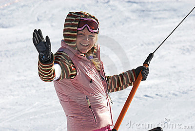 Women on ski resort
