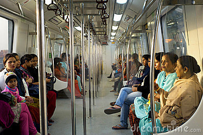 Women-Only Subway Cars Editorial Image