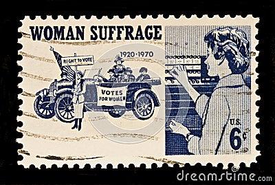 Women Suffrage Postal Stamp