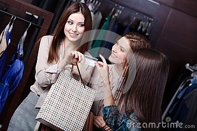 Women take away purchases