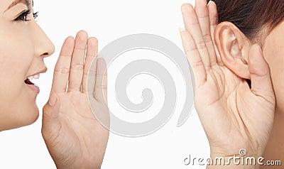 Women talking and listening