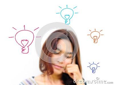 Women thinking