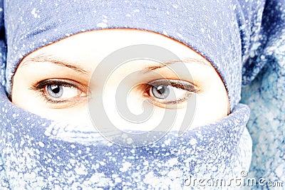 Women in a veil