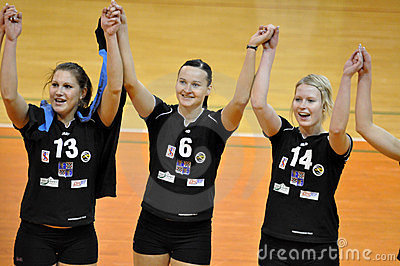 Women volleyball extra league, team Frydek-Mistek Editorial Photo