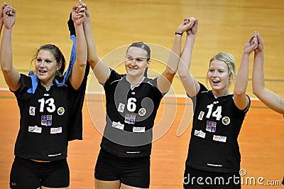 Women volleyball extra league, team Frydek-Mistek Editorial Photo