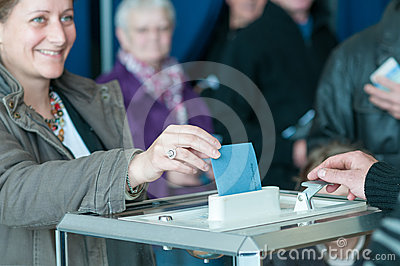 Women vote in france Editorial Photo
