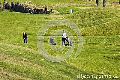 Women Walking Golfers