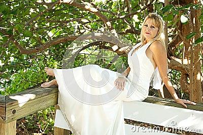 Women in a wedding gown