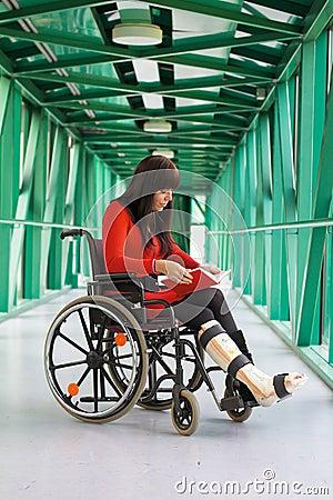 Women in wheelchair