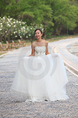 Women in white dress bride